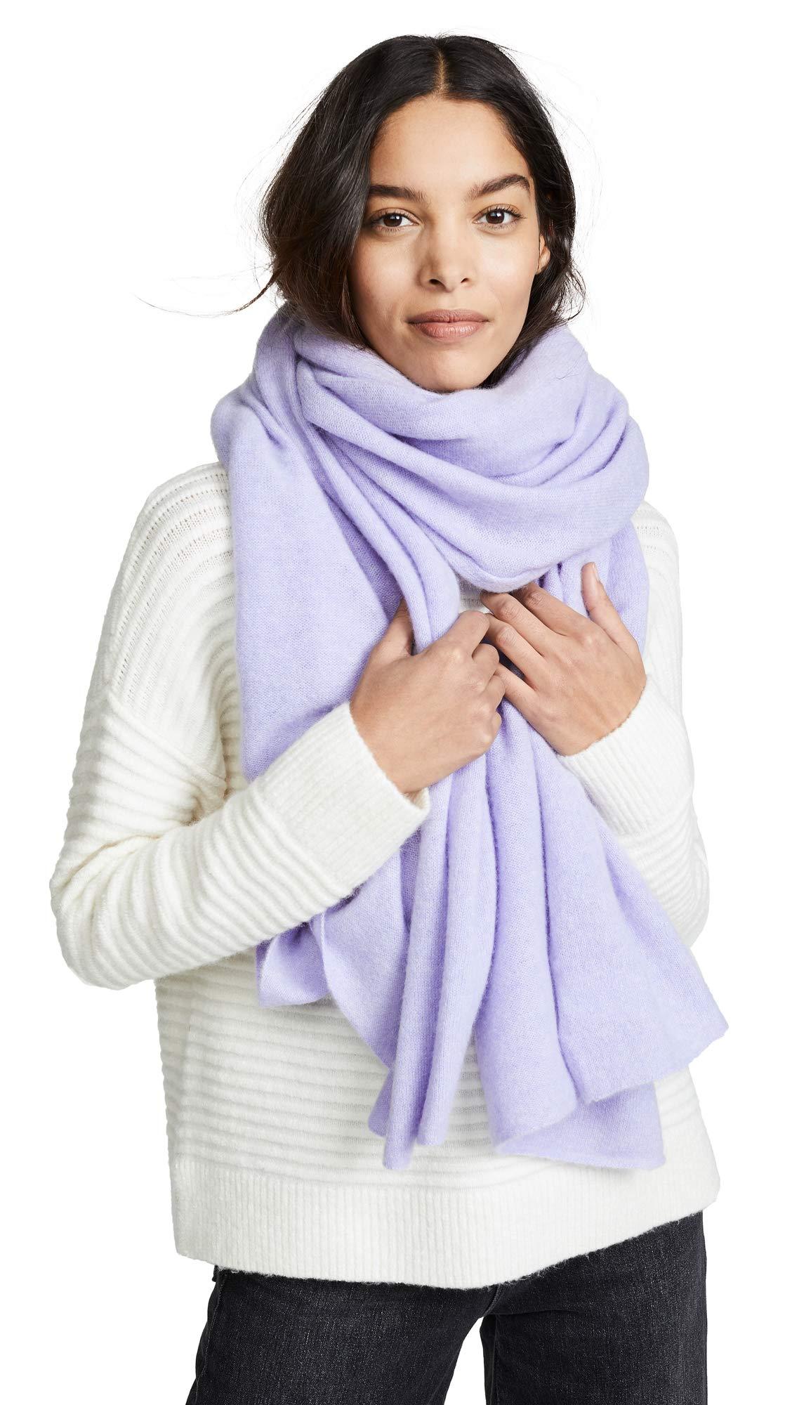 White + Warren Women's Cashmere Travel Wrap Scarf, Bright Lilac, One Size