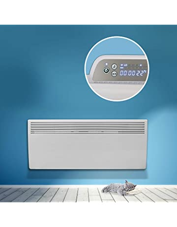 Devola Eco 1000W Electric Panel Heater 24 Hour 7 Day Digital Timer With Thermostat Lot 20 Compliant Slimline 1Kw Electric Radiator Wall Mounted Or Floor Standing Low Energy Electric Heater-DVM1000W by Devola