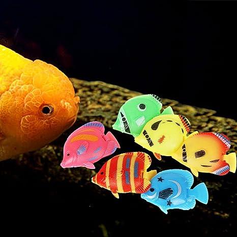 Legendog 20 UNIDS DecoracióN Del Tanque De Peces Ornamento De Los Pescados Creativo Flotante Simulado Acuario De Peces Ornamento Animal Del Tanque De Peces: ...