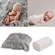 Aniwon Newborn Photography Props,Baby Photo Props Long Ripple Wraps Blanket Wraps for Baby Boys Girls