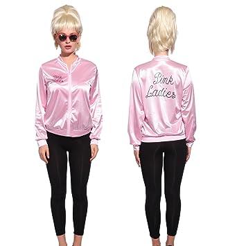 Anladia - Disfraz de Pink Lady Pink Lady Chaqueta Pink Lady Jacket Cosplay Dress Fiesta Carnaval Halloween Talla M 40