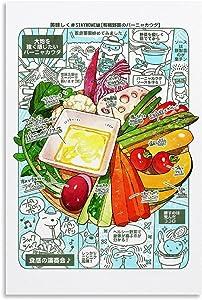 Trelemek Gourmet Food Anime Poster Organic Vegetables Modern Wall Art A Great Gift idea 24x36inch(60x90cm)