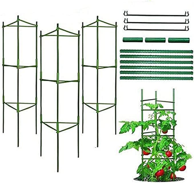 Apoyo para Plantas, Robustos Postes de Soporte para Plantas, Jaula para Plantas de Tomate, Escalada Vegtables, Flowers, Fruit Grow Cage (Tres Grupos)