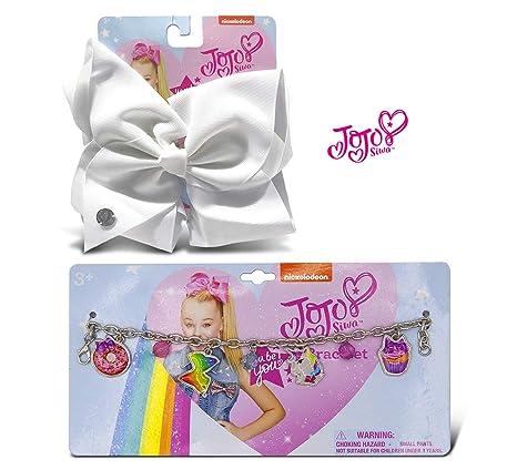 JoJo Siwa Bracelet for Girls Metal Chain Unicorn Cupcake Donut Charms