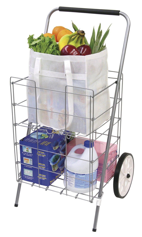 Amazon.com: The Faucet Queen Folding Shopping Cart with Shelf: Home ...