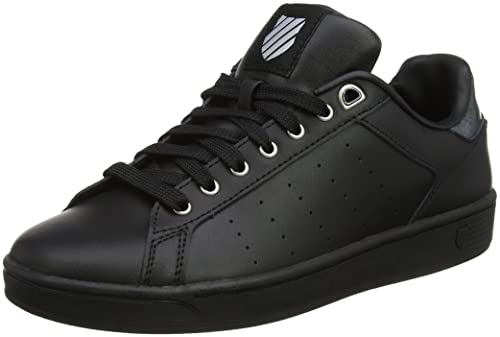 Clean Court CMF, Zapatillas Para Mujer, Negro (Black/Gray Marble), 42 EU K-Swiss