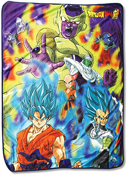Great Eastern Entertainment Dragon Ball Super- Group 3 Sublimation Throw Blanket