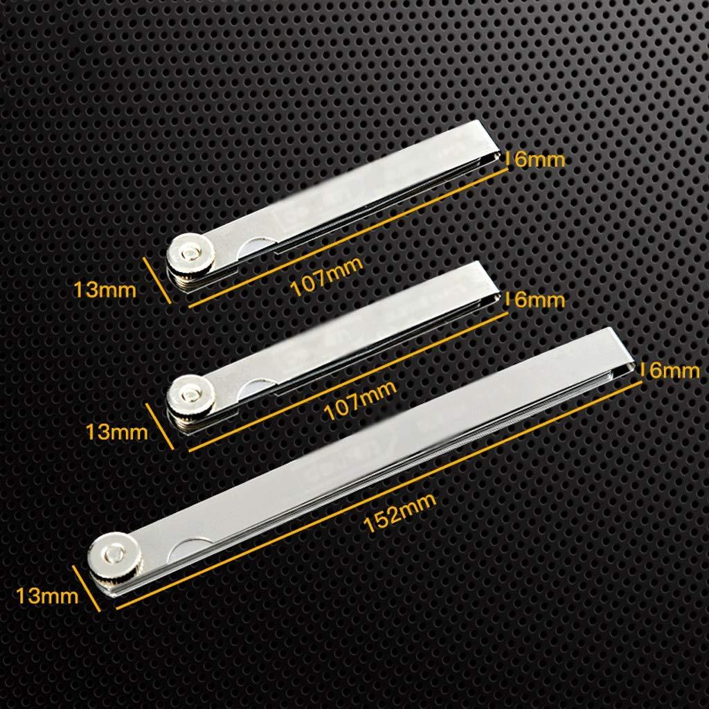 Taille : 3 17 pieces Jauges d/épaisseur Jauge d/épaisseur de jauge d/épaisseur de jauge d/épaisseur m/étrique en acier inoxydable de haute pr/écision m/étrique Acier inoxydable Jauges d/épaisseur