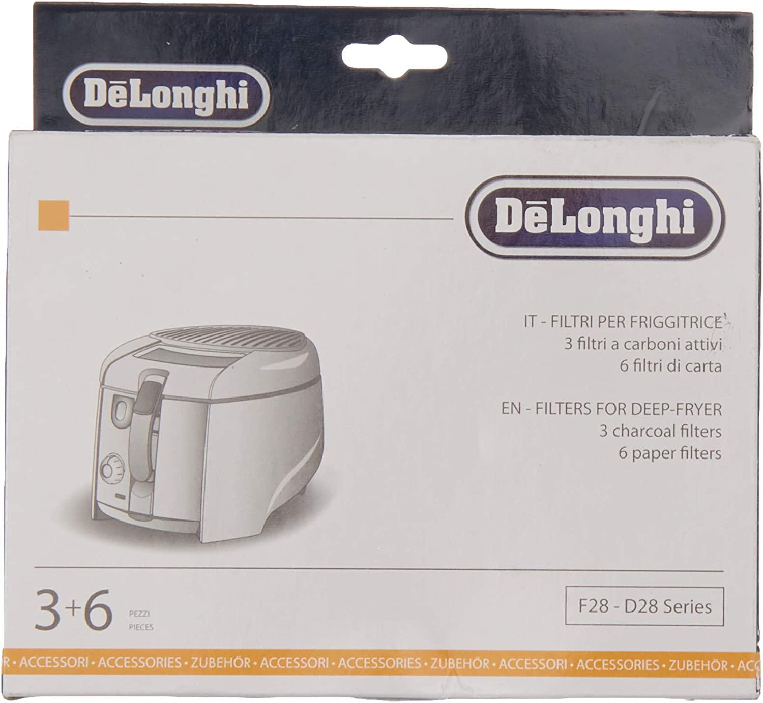 Delonghi 5512510041 Set Filters F28-9 D