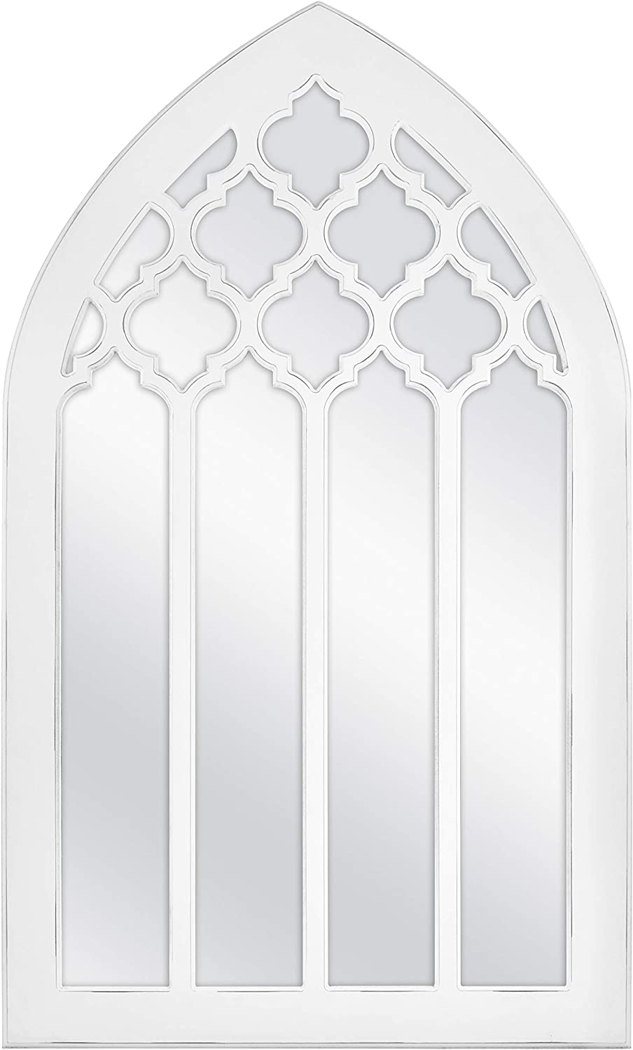 MCS Moroccan Arched Windowpane Wall Mirror