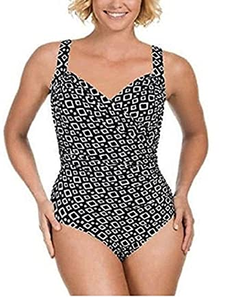 Miraclesuit Swimsuit Black 10 Control Shape Swimming Costume Kirkland Sidecourse