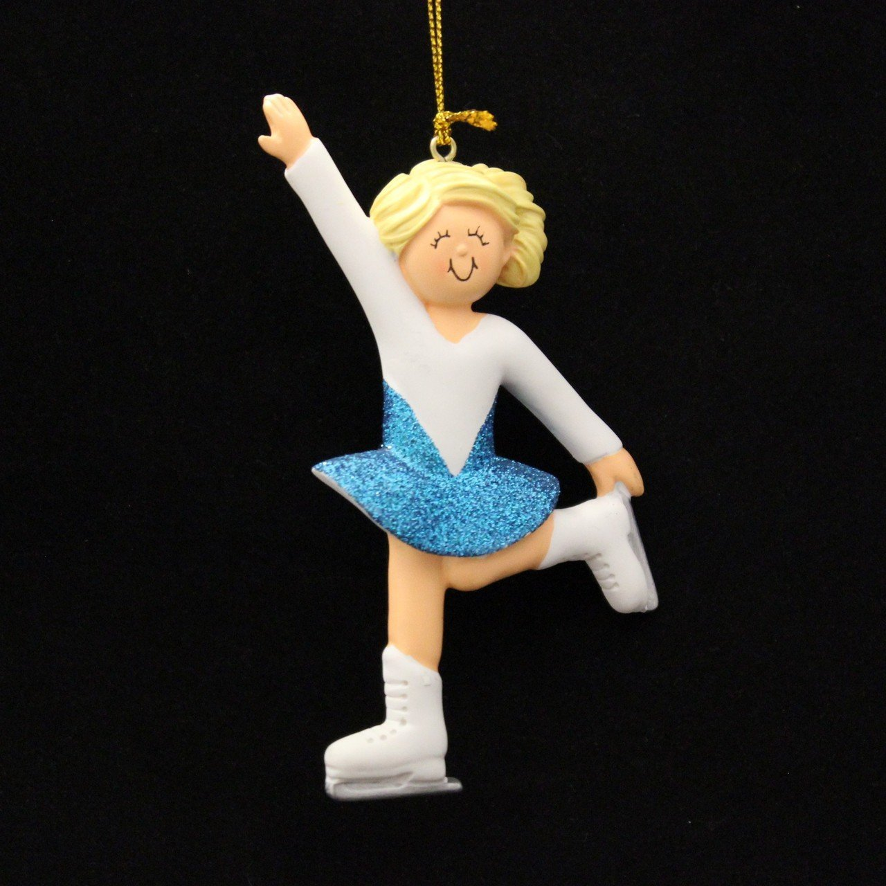 Ornament Central 2291 Female Blonde Ice Skater Personalized Christmas Ornament