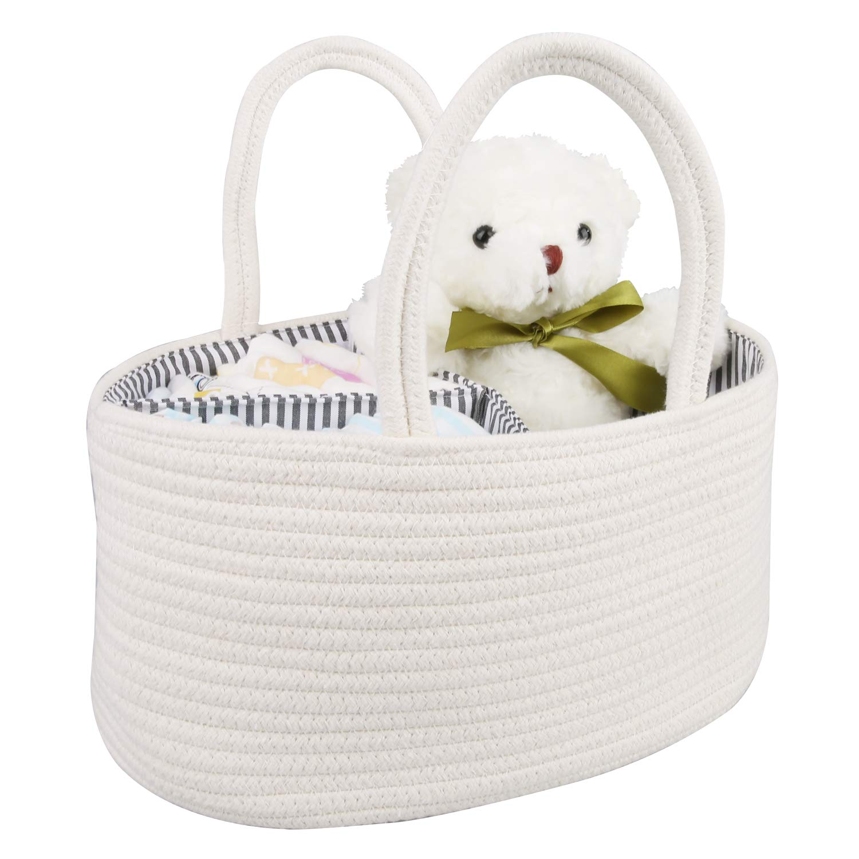 White Premium Quality Baby Shower Unisex Natural Small Basket