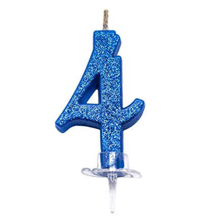 Fiesta y Co - Vela mágica con números Azules y Purpurina, 7 ...