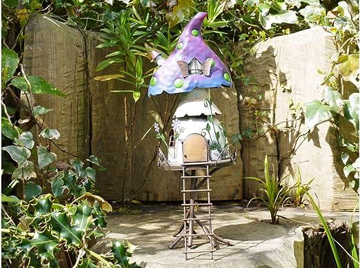 Hunky Dory - Casa de Hongos mágica para Hadas, Duende, árbol de jardín o casa, Puerta de Apertura: Amazon.es: Jardín