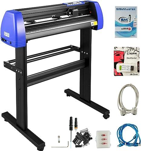 VEVOR Cortador de Vinilo, Máquina de Cortador de Plotter de Vinilo de 720mm, Vinilo Cortador Letrero para Corte Negro Azul: Amazon.es: Oficina y papelería