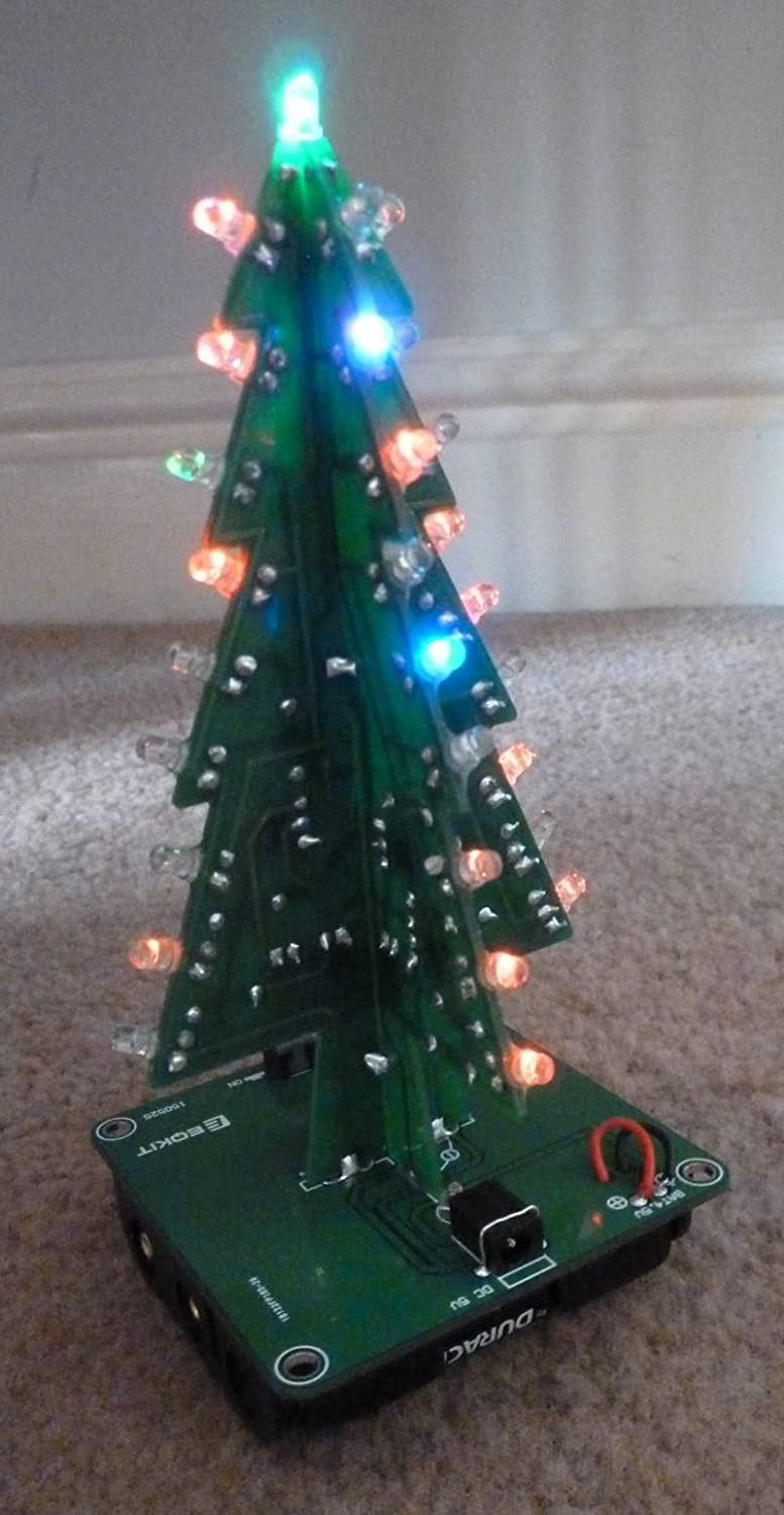 Icstation Diy 3d Christmas Tree Assemble Kit With 7 How Lights Switch And Circuit Work Color Flashing Led For Electronics Solder Practice Industrial Scientific