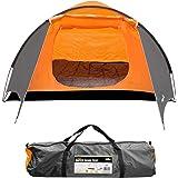 Milestone Camping Super Dome Four Person Tent - Orange