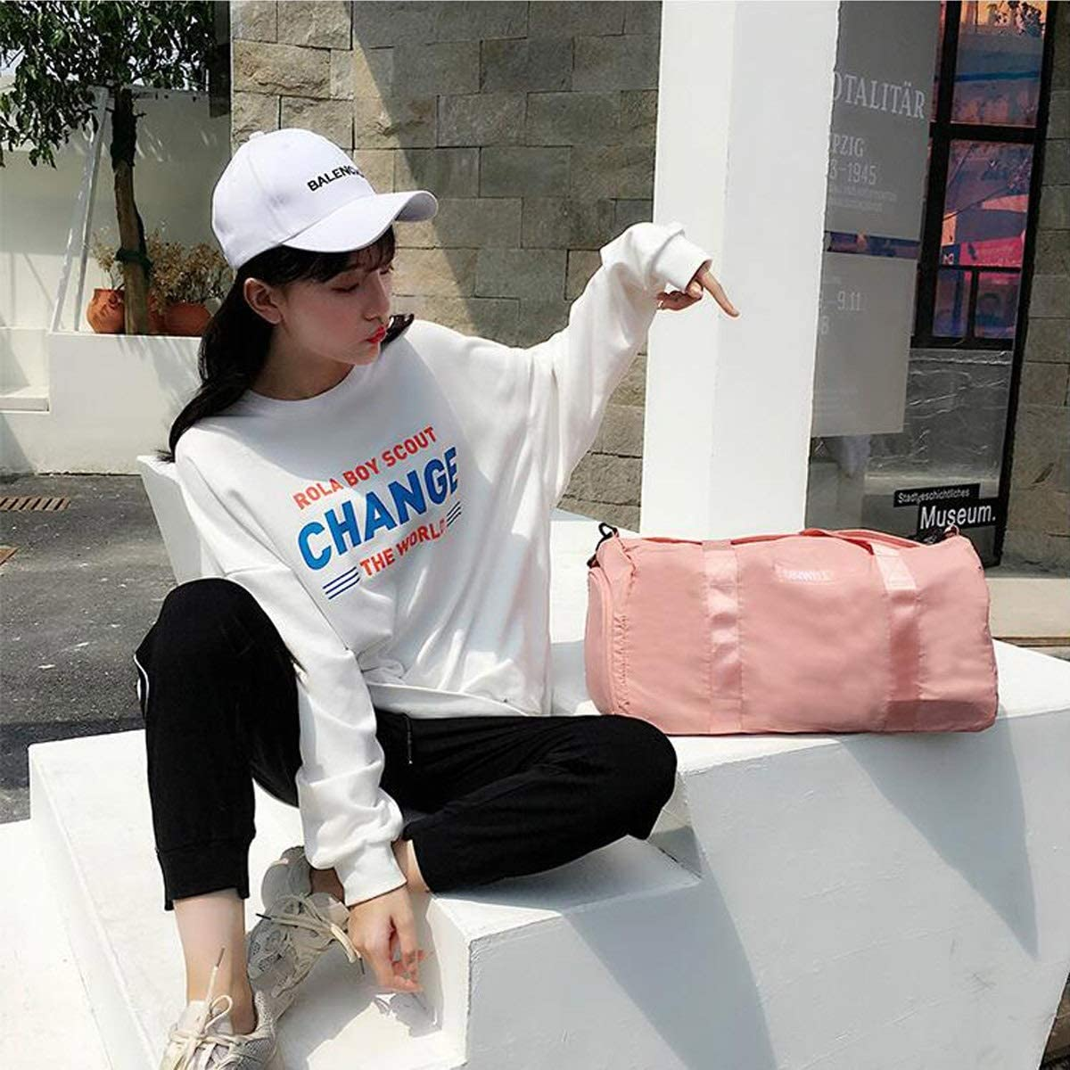 Chenjinxiang Sports Bag Large-Capacity Fitness Bag Size: 502323cm Concise Swimsuit Storage Bag Dry and Wet Separation Bag Wet and Dry Separation Swimming Bag