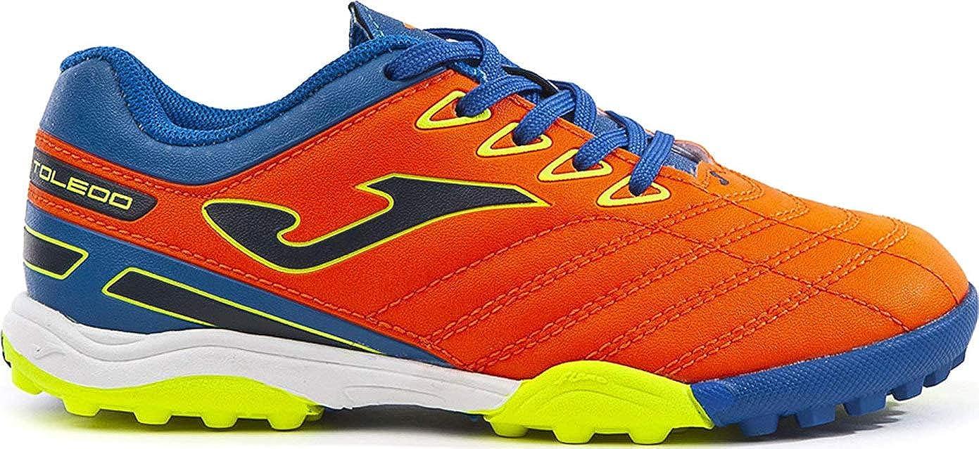Joma Junior Toledo TF Turf Soccer Shoes Orange//Blue