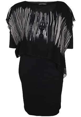 Doris Streich Damen Jerseykleid mit Kontrastmuster 2-IN-1  Amazon.de ... 5831e56fe9