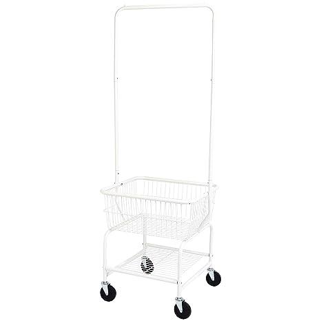 Amazon.com: AmazonBasics - Cesta para la colada con ruedas y ...