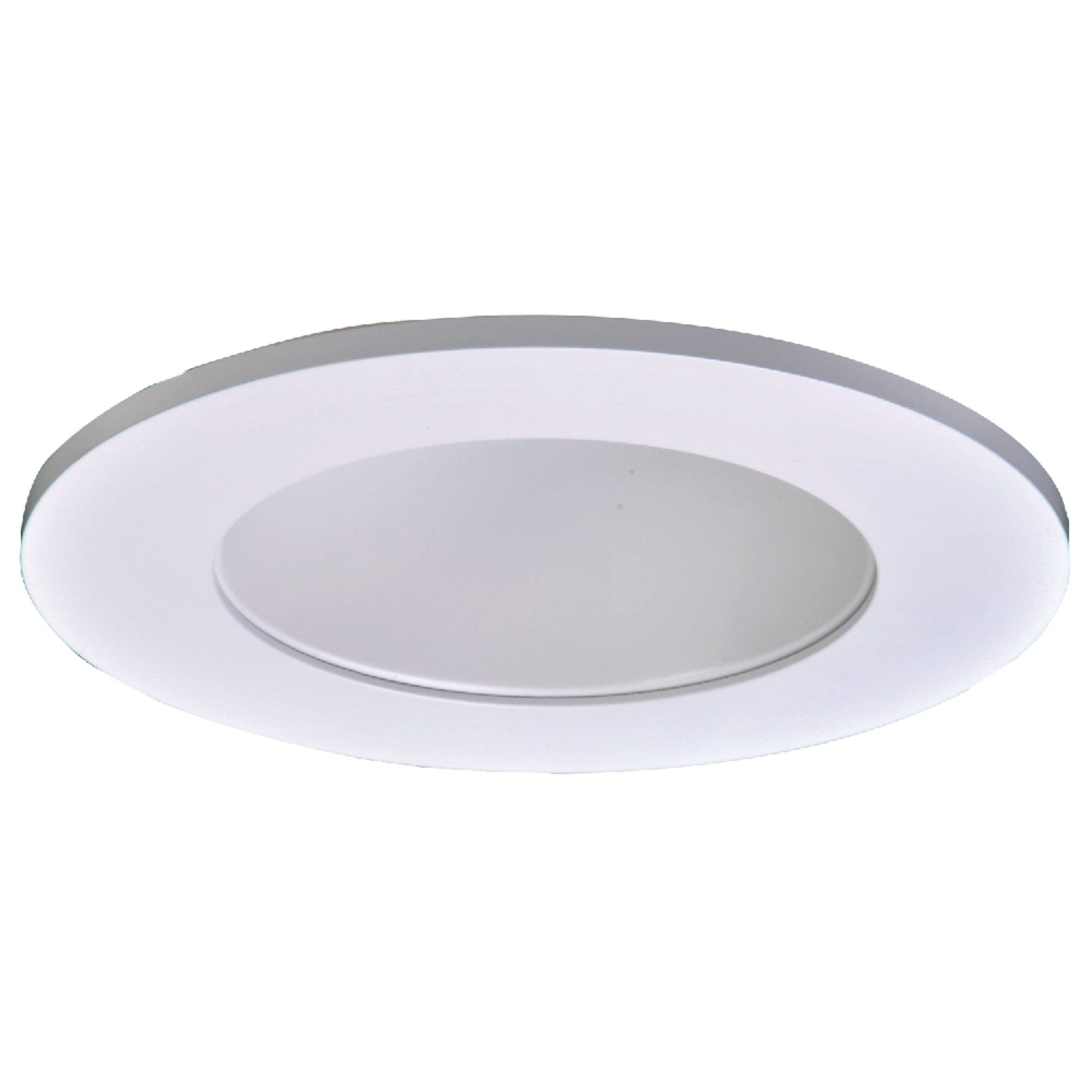 Halo TL410WH LED Trim, Frost Dome Polymer Lens, White Reflector, Matte White Ring, Shower Rated, 4''