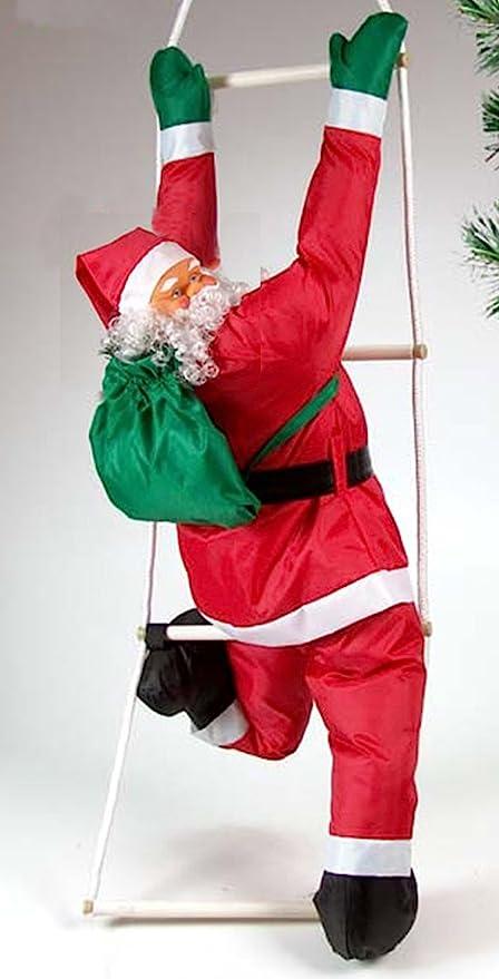 Babbi Natale.Idea Natale Pupazzo Babbo Natale Che Si Arrampica Su Scala Da Appendere Altezza 120cm Amazon It Salute E Cura Della Persona