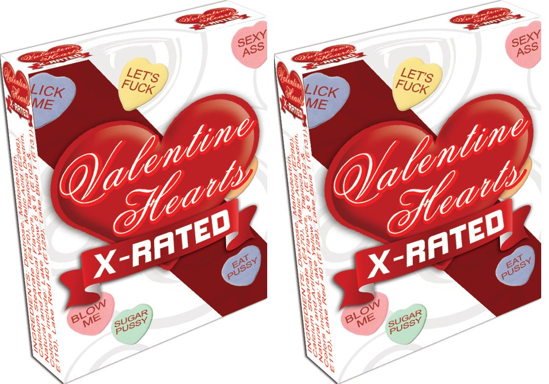 Naughty Heart Shaped Sweet Candy Conversation Hearts (2 Pack)