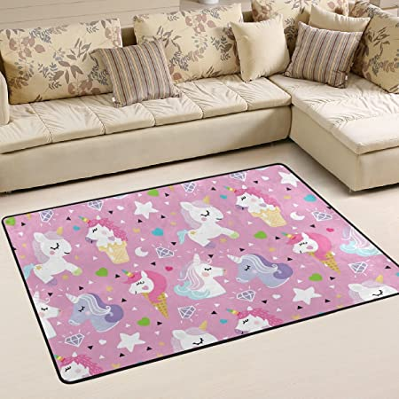 JSTEL Super Comfortable Anti-slip Unicorn Pony Ice Area Rugs/Floor ...