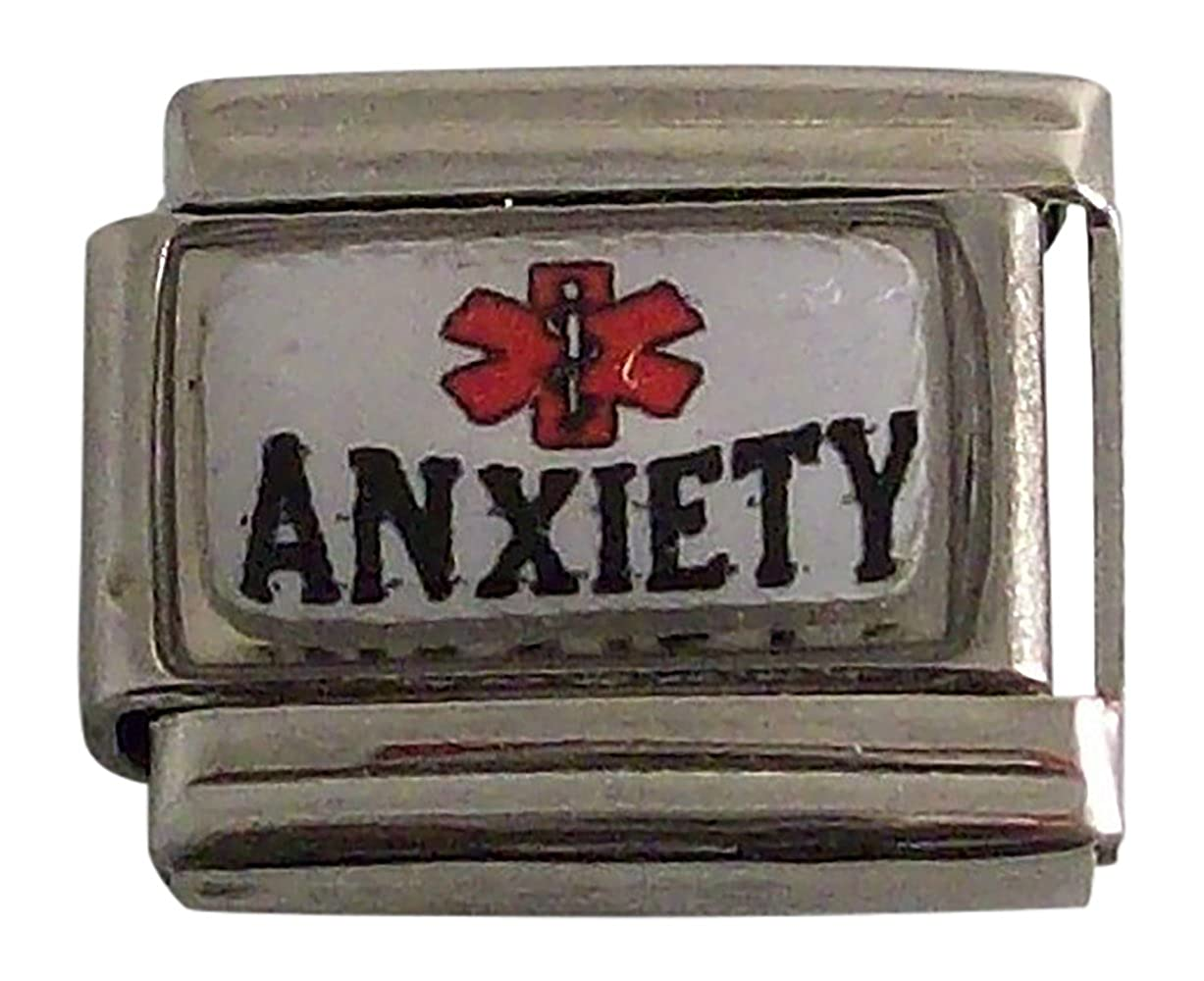 Gadow Jewelry 2 Anxiety Medical ID Alert Italian Charms JKUM-577