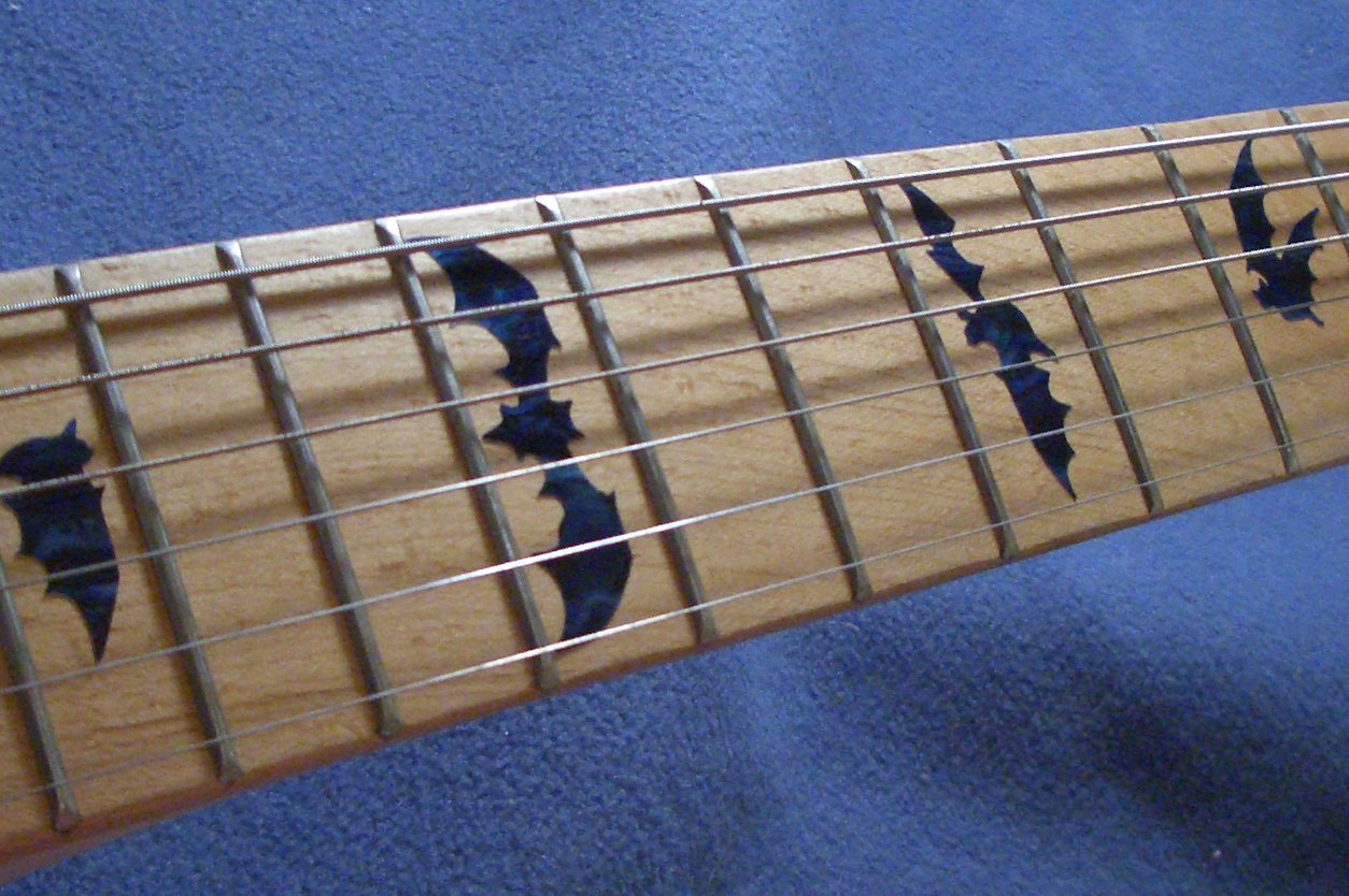 Fretboard Markers Inlay Sticker Decals for Guitar & Bass - Bat Wing - BP by Inlaystickers (Image #2)