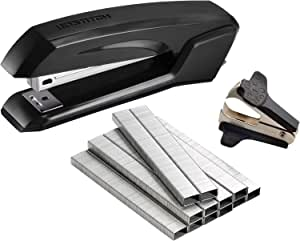 Bostitch Office Ascend 3 in 1 Stapler with Integrated Remover & Staple Storage, Value Pack with Staples & Remover, Assorted Colors (B210-CC), Full Size