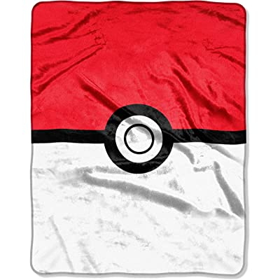 UPD Pokemon Pokeball Oversized Silk Touch Throw, 55 x 70 inches, Multicolor: Toys & Games