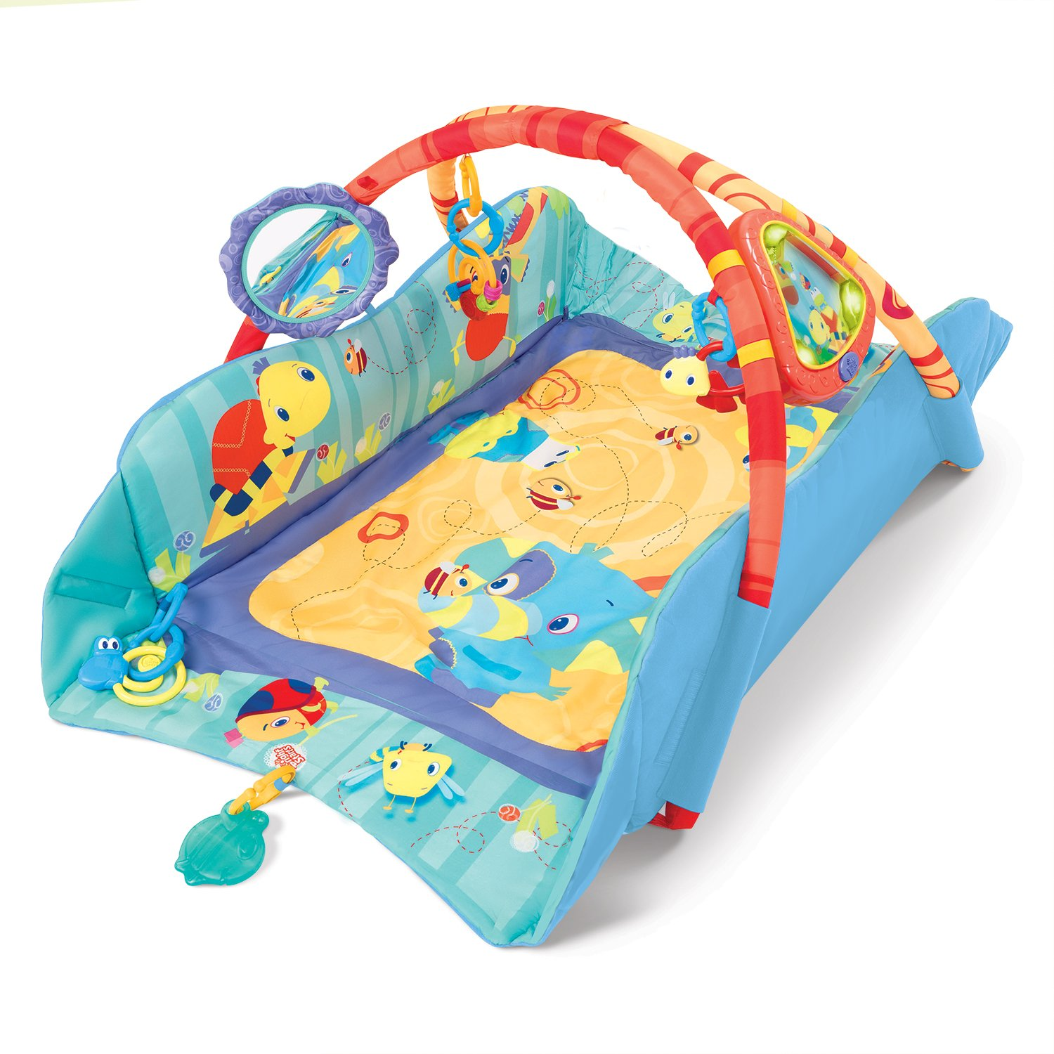 Amazon Bright Starts Baby s Play Place Mat Blue