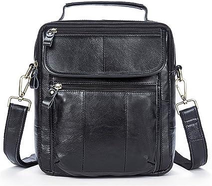 DQMSB Mens Portable Briefcase Fashion Trend Mens Business Shoulder Bag Computer Bag Mens Bag Color : Brown