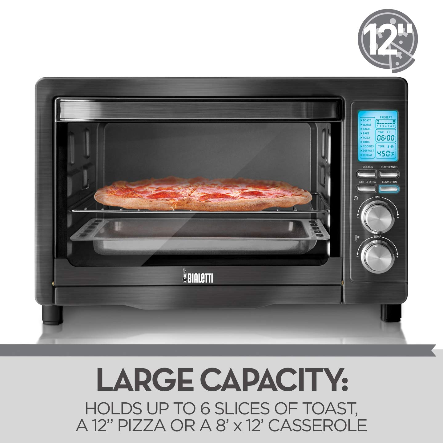 Bialetti (35047) 6-Slice Convection Toaster Oven, Black Stainless Steel by Bialetti (Image #7)