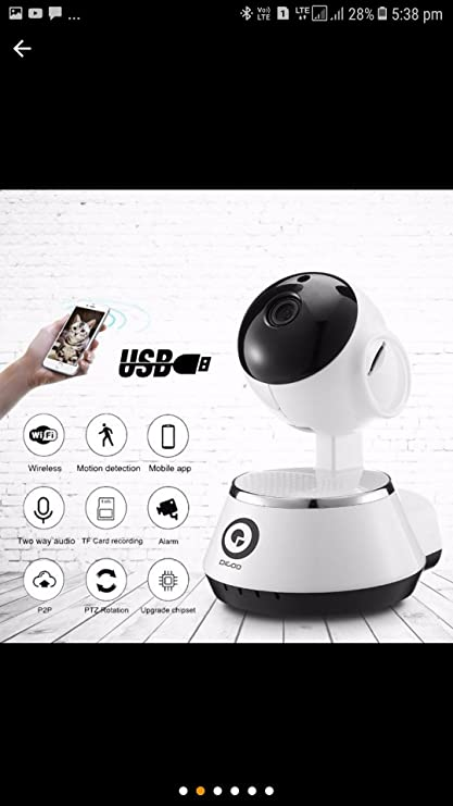 DIGOO BB-M1 HD 720P Wireless WiFi USB IP Camera Audio: Amazon in