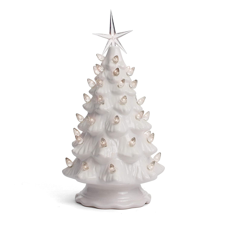Milltown Merchants Ceramic Christmas Tree Tabletop Christmas Tree Lights 11 5 Medium White Christmas Tree White Lights Lighted Vintage
