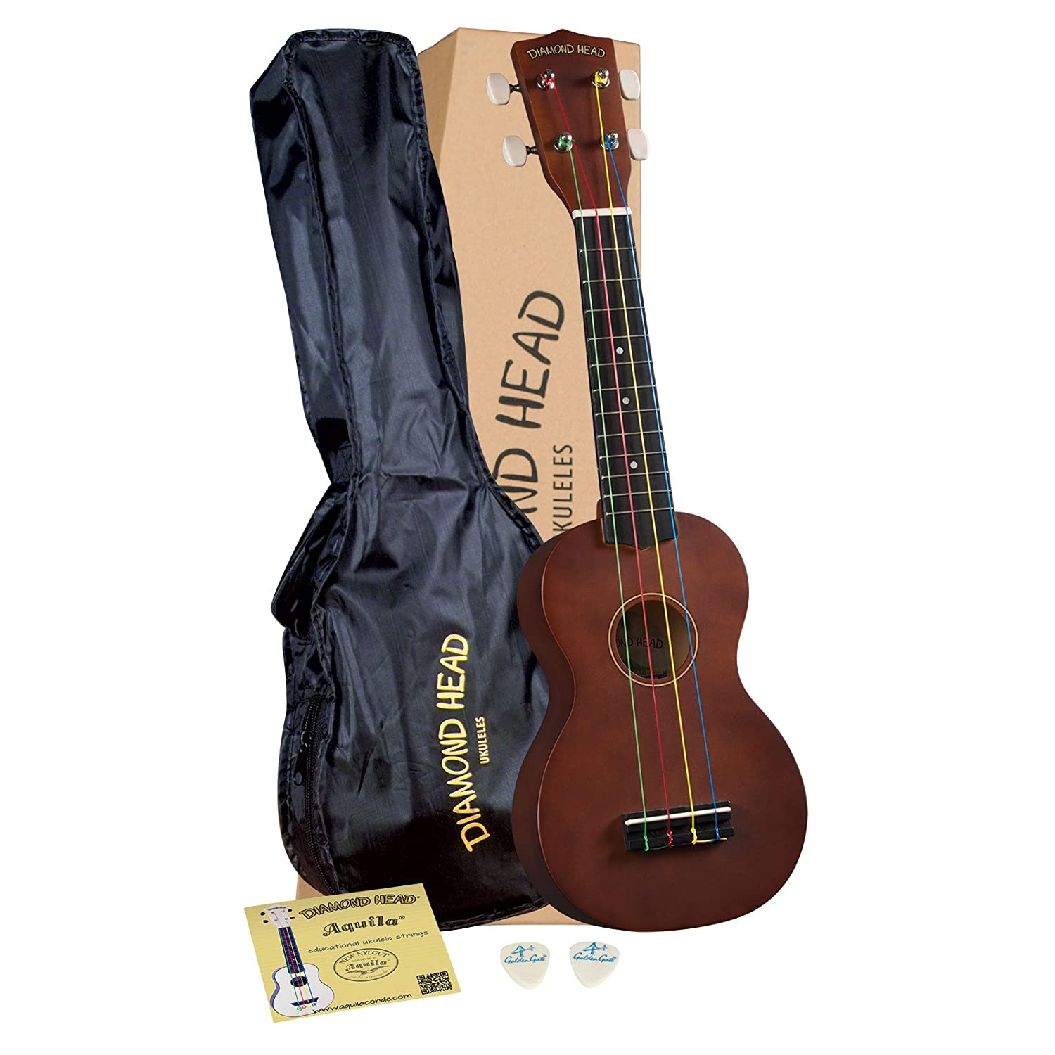 Diamond Head DU-150 Soprano Ukulele - Mahogany Brown KMC Music Inc