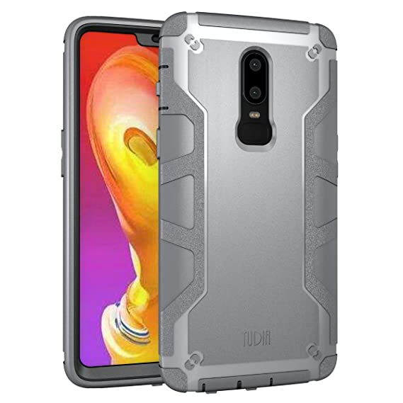 new concept 4cf15 f9482 Amazon.com: OnePlus 6 Case, TUDIA OMNIX [Heavy Duty] Hybrid [Full ...