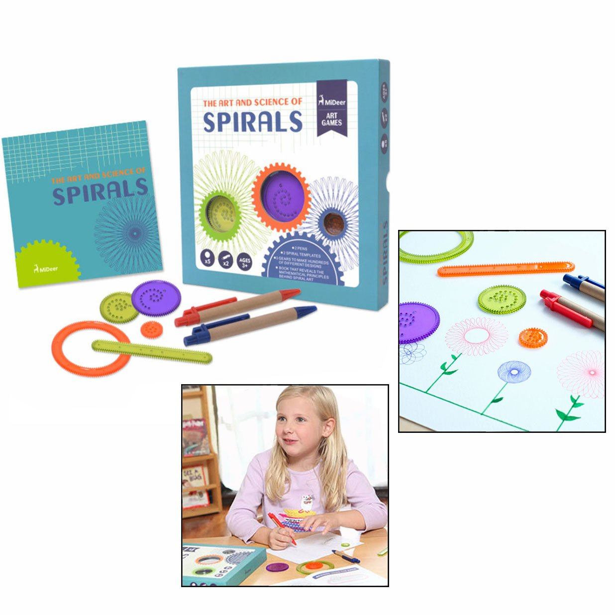 Cisixin Spirograph Design Set Stencil Drawing Kit, Educational Toy for Adults and Children