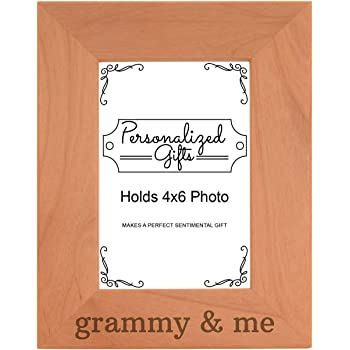 Amazon.com - Grammy and Me Vertical Oak Picture Frame and Oak Matte ...