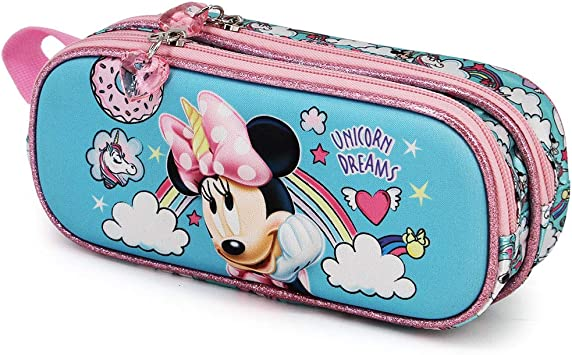 Karactermania Minnie Mouse Unicornio - Estuche Portatodo 3D Doble, Multicolor: Amazon.es: Equipaje