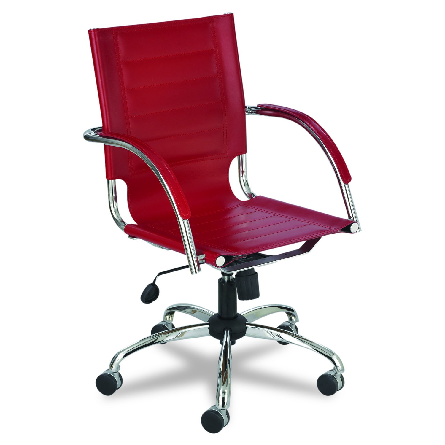 Safco Products Flaunt Managers Leather Chair, Red