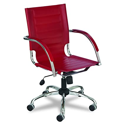 amazon com safco products 3456rd flaunt managers leather chair red