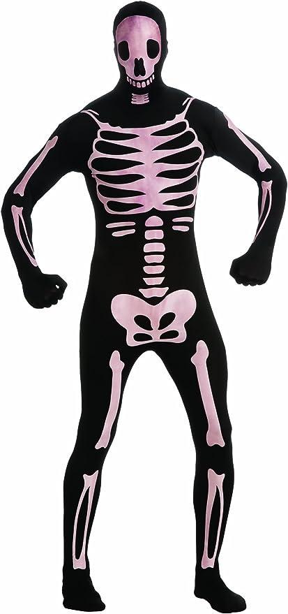 N2 Mens Teenage Skeleton Zentai 2nd SKin Suit Adult Funny Halloween Costume