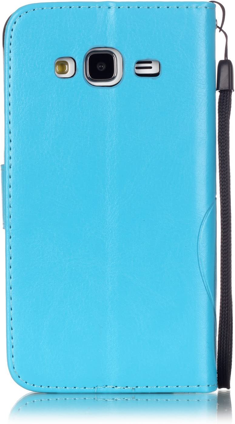 HUDDU Kompatibel mit Handyh/ülle Samsung Galaxy J3 2016 J310 Glitzer Handy H/ülle Schmetterling Schutzh/ülle Bling Diamant Flip Case Cover PU Leder Tasche Handytasche im Bookstyle Stand Megnetic Grau