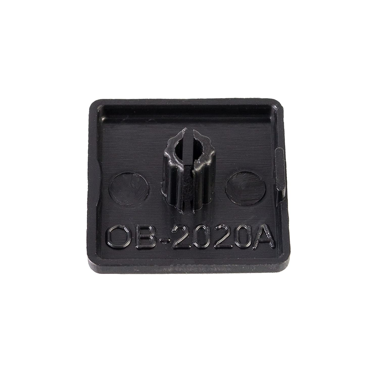 16er Set PVC-Endkappen f/ür Systemprofile Aluminiumprofile Konstruktionsprofile 20x20 mm
