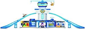 """Super Wings - World Airport Toy Playset  Includes Jett and Donnie Figures  2"""" Transform-a-Bot Scale"""